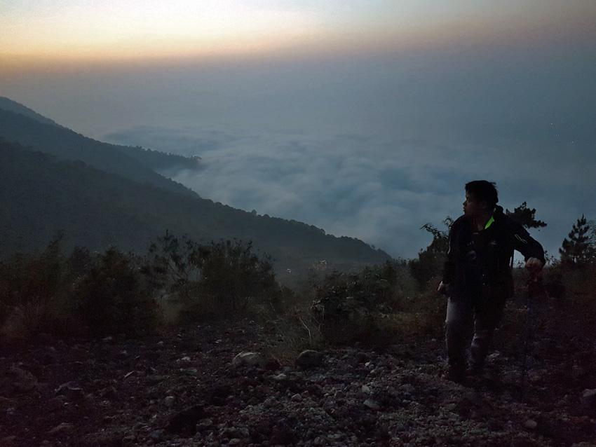 keindahan gunung guntur