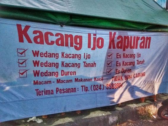 wedang durian semarang kacang ijo kapuran